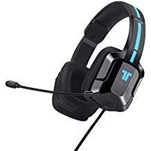 TRITTON Kunai Plus [Upgraded mit Over-Ear-Ohrmuscheln] Gaming Headset, Xbox One Headset mit Mikrofon, für für Playstation 4, PS Vita, und Mobile Geräte (schwarz-blau) (Halo Für Die Playstation 4)