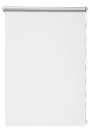 Beyond Drape Thermo-Estor (Color Blanco 60x 210cm sin Agujeros DKL-Estor Enrollable Pinza Estor Blackout Revestimiento de Plata