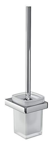 Emco Trend Toilettenbürsten-Garnitur, Glas satiniert/chrom, Toilettenbürste mit Bürstenhalter, Wandmontage - 21500100