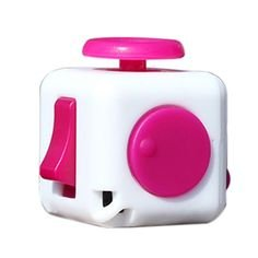 ToyZHQ Fidget Toy Cube Toy Relieves Stress Anxiety ADHD for Adults and Children (Pink)