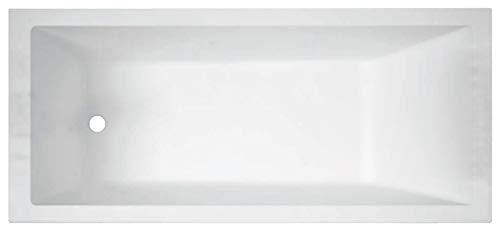 Vasca Bagno Novellini Calos 2.0 Standard da incasso misura 180x80 H58cm Capienza 200 Litri Arredo Vaschetta Rettangolare Squadrata Guscio Tradizionale Acrilico Finitura Bianco Lucido Casa Reversibile