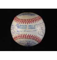 Signed Twins, Minnesota (1995) MLB Baseball By The 1995 Minnesota Twins Team including Kirby Puckett autographed Minnesota Twins-ausrüstung