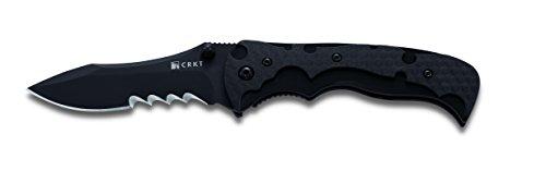 My Tighe, Black Handle & Blade, ComboEdge - Tighe Black Blade