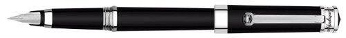 Montegrappa Parola - Pluma estilográfica, material: resina, borde: cromo, clip: con rueda giratoria, punta: acero inoxidable, sistema de llenado: cartucho / convertidor, sistema de cierre: atornillado, longitud cerrada: 144 mm, longitud del cilindro:...
