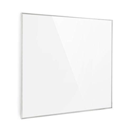 Klarstein Wonderwall 36 Calefactor infrarrojo • Aparato portátil • Panel Calefactor de 60 x 60 cm • 360 W • Cristal de Carbono • Programable • Autoapagado • Apto para alérgicos • IP24 • Blanco