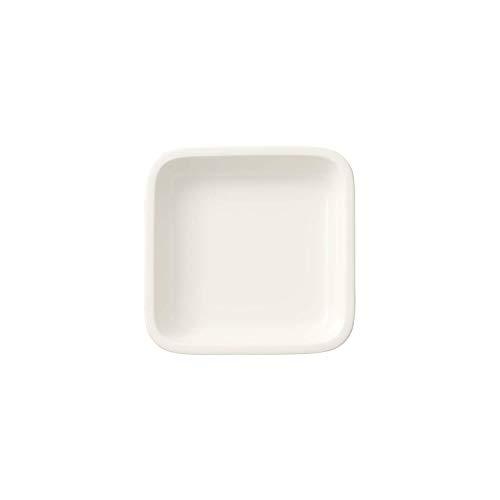 Villeroy & Boch Clever Cooking Plat de service carré, 10 x 10 cm, Porcelaine Premium, Blanc