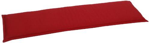 GO-DE 2948-11 Bankauflage 2 Sitzer, circa 115 x 48 x 6 cm, rot uni