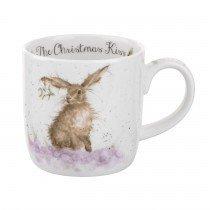 Wrendale por Royal Worcester taza la Navidad beso, multicolor