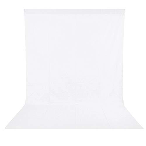 BDDFOTO 1,8 x 2,8m Photo Studio Fotohintergrund Weiß 100% Reiner Baumwolle Muslin Faltbare Whitescreen Background Fotoleinwand für Fotografie, Video und...