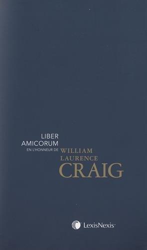 Liber amicorum en l'honneur de William Laurence Graig