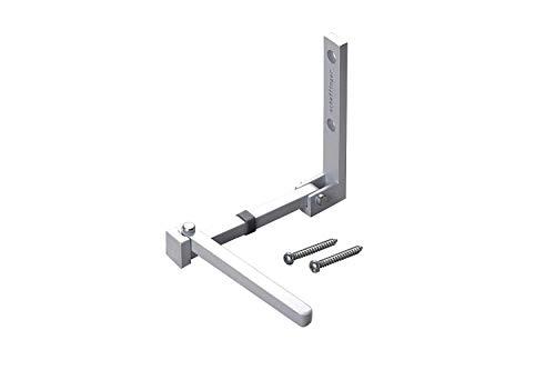 scheffinger V77 Türriegel aus hochwertigem, Überfallschutz für Wohnungstüren, gefertigt in Deutschland, 100{1d6d13ea50d56d0b91c73419355bce8d14164163b251eea53a28022b030eaec0} Stahl, Silber