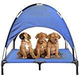JANMO Hundebett Faltbar Innen- und Kinderbett Zelt Himmel Shelter, L 36 inch, Blau -