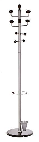 Alco 2801 Standgarderobe, mit Marmorfuß, ca. 180 cm, silber