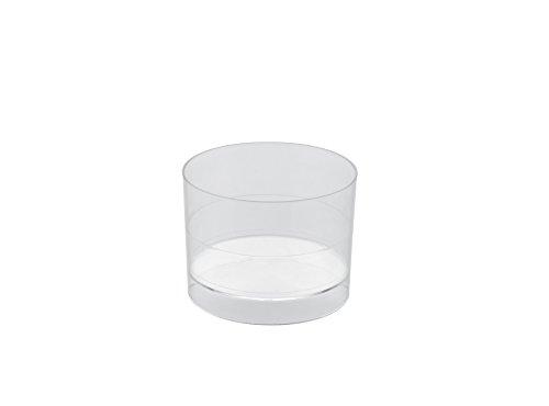 Gold plast – Lot de 15 coupelles Zero 53x40 mm transparent