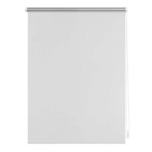 Lichtblick Verdunklungsrollo Klemmfix, 45 cm x 150 cm (B x L) in Weiß, ohne Bohren, Sonnen-, Sicht-, Hitze- & Kälte-Schutz, reflektierende Thermo-Rollo Funktion, Verdunkelung für Fenster & Türen