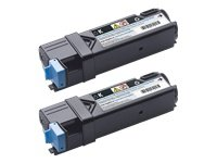 2 Artikel Kit (Original Dell 2150cn/cdn & 2155cn/cdn Dual Black Toner Kit ca. 2 x 3.000 Seiten)