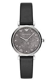 Emporio Armani Damen Analog Quarz Uhr mit Leder Armband AR11171