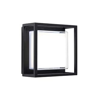Saxby ARLOW 1LT Wall IP44 10.8W Cool White. Black 79200