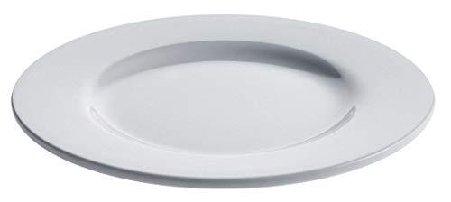 Alessi Ajm28//22 Platebowlcup Plat de Service Ovale en Porcelaine Blanche