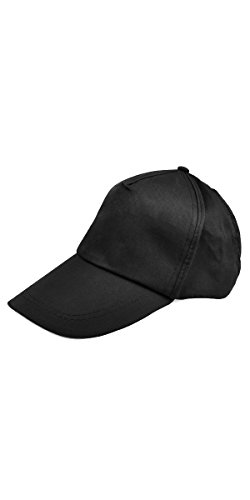TOOGOO(R) Baseball Cap Adjustable Classic Cotton Summer Sun 5 Panel Men Lady Sport leisure - black Test