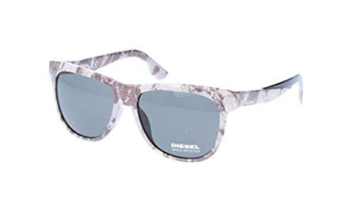 Diesel Unisex-Erwachsene DL9076 05N-56-16-145 Sonnenbrille, Weiß, 56