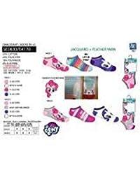 Suncity Pack 6 pares de calcetines cortos niño (tobilleros) 6 modelos diferentes diseño LITTLE PONY nums. 23/26-27/30-31/34 (27-30)