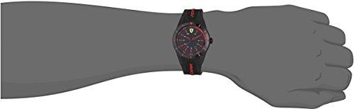Ferrari 0840004 RedRev – Reloj analógico de pulsera para hombre (cuarzo, correa de silicona)