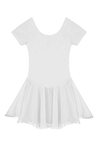 der Ballett Tutu Tütü Balletkleid Kindertanzkostüme Trikots Tanz Leotards Kleider, Type3-Weiß, Gr. 160(11-12Y) (Kostüme Für Kinder Tanz)