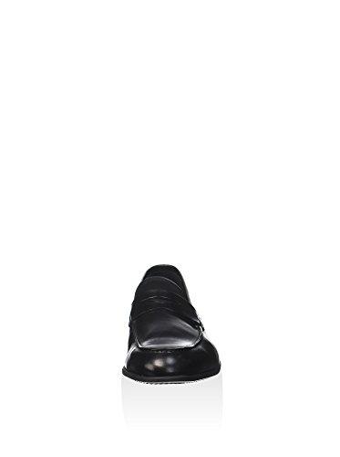 Campanile T106S Business Slipper Leder schwarz Nero