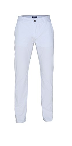 Herren Chino Hose in vielen Modefarben Sommerhose Herrenhose , Farbe:WHITE;Größen:34/34 (34 Fox)