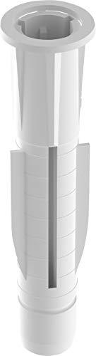 TOX Allzweckdübel mit Kragen Trika 5 x 31 mm, Dübel für fast alle Baustoffe, 100 Stück, 011100021