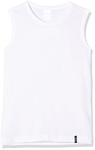 Schiesser Jungen 95/5 Shirt 0/0 Unterhemd, Weiss 100, 176 (Herstellergröße: L) (Tank Pima-baumwolle, Top)