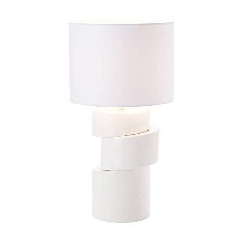 Lampe De Salon Smart Blanche En Céramique Et Tissu
