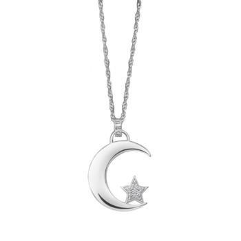 Collar Lotus Mujer de acero con colgante Luna lp1622–1/1