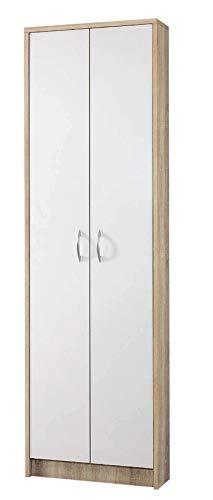 Avanti trendstore - rodolfo - mobili da ingresso, in laminato di quercia sonoma e bianco (armadio)