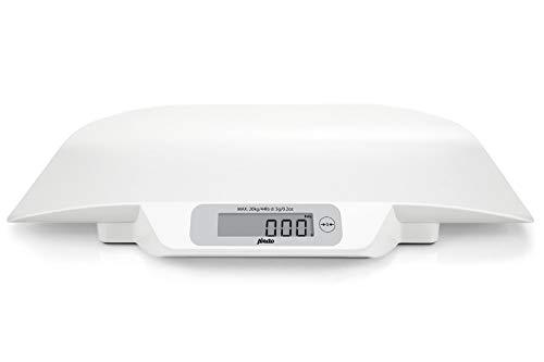 Alecto BC-30 Alecto Baby BC-30 Babywaage digital, für Babys und Kleinkinder bis max. 20 kg mit Stabilisierungssystem und bis zu 5 Gramm genau, weiß