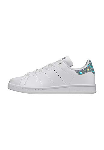 adidas Stan Smith J, Scarpe da Ginnastica Basse Donna, Multicolore Ftwr White/Core Black Ee8483, 38 2/3 EU
