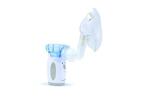 Nuvita 5076 aerosol vibrante tecnologia mesh premium nebulizzatore portatile – macchina nebulizzatore – inalatore - compressore – per allergie e malattie respiratorie – marchio ue – design italiano