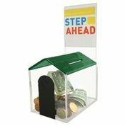 Doghouse Acrylic Donation box-Collaction, con finestrella frontale e serratura con 2chiavi,