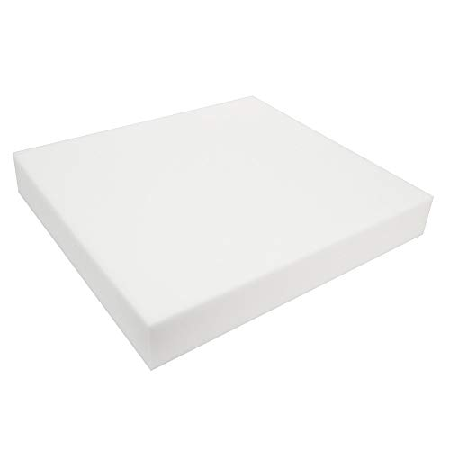12-zoll-kissen (MYAMIA 12 Inch Quadrat Hohe Dichte Seat Schaumstoff White Kissen Blatt Upholstery Ersatz Pads-75Mm)