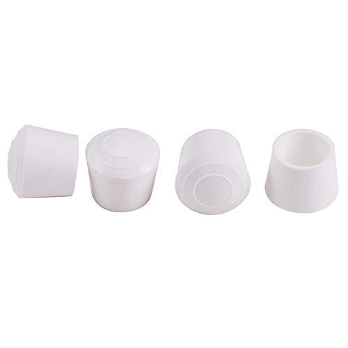 increway 7/8Zoll Innen Durchmesser rutschsicheren Stuhlbeinkappen Gummi Bein Tipps, Schwarz & Weiß, weiß (7 Pool-tisch)