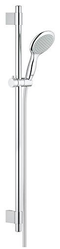 Grohe Power&Soul 115, Brausestangenset 900mm, 2 Strahlarten, variable Bohrlöcher zur Befestigung, chrom