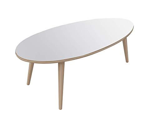 Marca Amazon - Movian Adour Modern - Mesa de centro ovalada, 55 x ...