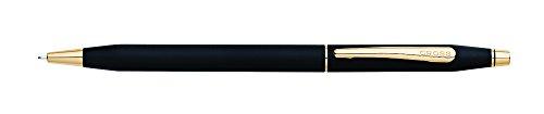 Cross Classic Century Drehbleistift (Strichstärke 0,7 mm, mit 23 Karat goldplattierten Beschlägen, inkl. Premium Geschenkbox) mattschwarz