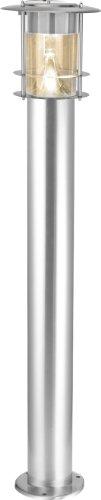 Best Season LED-Solar-Wegleuchte, Edelstahl, circa 78 x 14 cm, 6 warm weiß LED extrabright, mit Solarpanel, inklusive Akku outdoor, silber 477-74