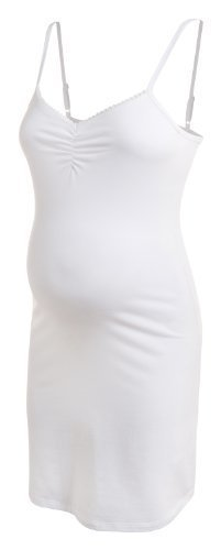 noppies verführerische Still-Slipdress Nachthemd Schlafkomfort Still-Nachthemd 40381 (XL, weiss)