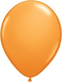 Mayflower 6577 9 Inch Orange Latex Balloons Pack Of 100 by Mayflower Products