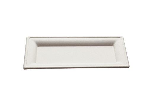 Piatti rettangolari Design monouso 26x13cm - 50 pz - Biodegradabili e Compostabili