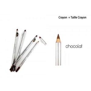 CRAYON MARRON CHOCOLAT 2 EN 1 LEVRE ET YEUX AVEC TAILLE CRAYON YES LOVE