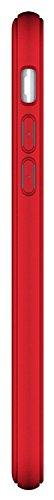 Daorier Housse de Protection pour iPhone 7 Housse de Protection Mate TPU Soft 4,7 pouces (Vert) Rouge